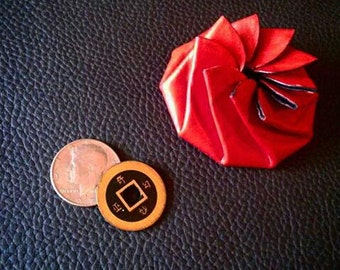 Pinwheel de porte-monnaie en cuir
