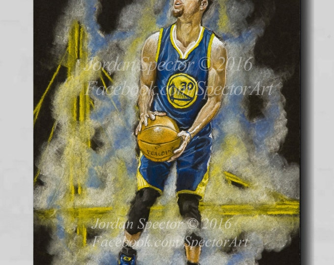 Golden State Warriors - Steph Curry - Canvas Print - Chef Curry - Wall Art - Man Cave Art - Golden State - Warriors Decor - Dorm Decor