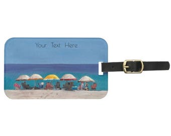 Hostess Gifts//Custom Luggage Tag with Business Card Slot//Luggage//Travel//Bag Tags//Labels//Wedding Shower Hostess Gifts//Beach Trip//Art