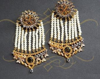 Jhumar earrings Asian wedding