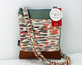 ZOE Messenger Cross Body Sling Bag - Rain Nectar and PU Leather READY to SHIp  Ipad bag