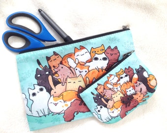 Cat Coin Purse Zippered Pouch, Small Pouch, Accessory
