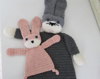 Crochet ragdoll bunny large