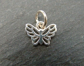 Sterling Silver Butterfly Charm 10mm