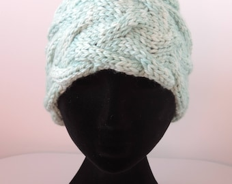 Hand Knit, Chunky Cable Headband