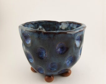 5-Footed Stoneware Flower/Succulent Pot