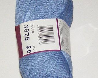 Vita Pelican crochet thread size 10, 100% mercerized cotton, 50g/360 yds, #3975 blue