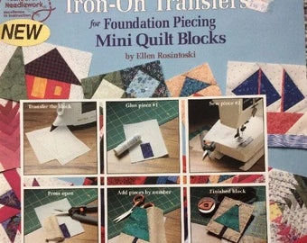 Quilting book/Foundation piecing quilting/iron-on Transfers/Mini Quilt Blocks/easy to learn/paper piecing/