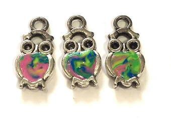 1-3 pieces Polymer Clay Owl Charms, Owl Beads, Bird Beads, Bird Charms, Destash Beads