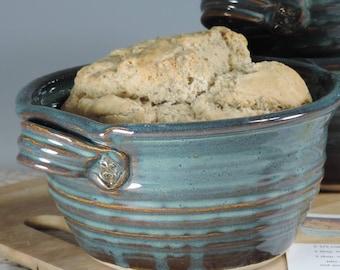 Bread Pot, Bread Baker, Beer Bread Pot, Recipes Included, Blue Glaze, Ready to Ship