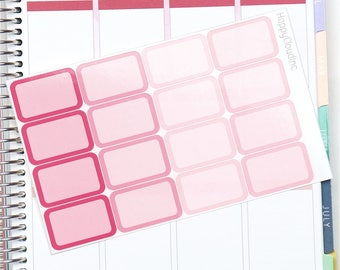 February '18 Vertical Half Boxes Planner Stickers for use with Erin Condren LifePlanner™ (16 Stickers)