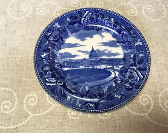 The U.S. Capital Vintage Wedgwood Plate from 1900