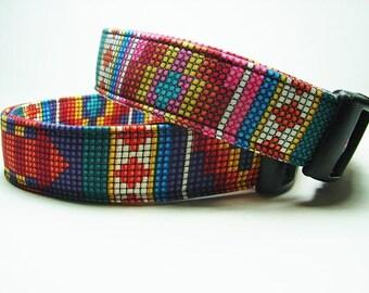 Collier de chien sud-ouest Aztek rose ou violet