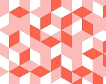 Cubes in Pink - Maribel - Annabel Wrigley - Windham Fabrics - 1 Yard