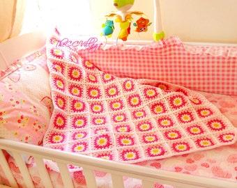 Crochet baby blanket, Crochet Daisy Blanket, Flower Blanket, Crochet blanket Manta, baby shower gift personalized gift, Baby blanket crochet