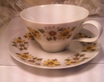 Vintage Noritake Marguerite china cup and saucer
