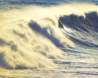 Ocean Wave Photo - Modern Beach Decor Photograph