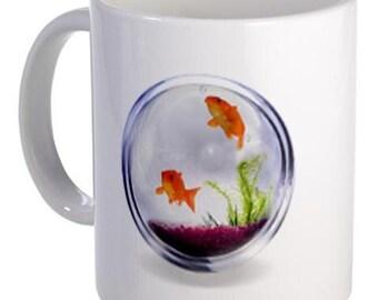 GOLDFISH Aquarium Animals 11oz Ceramic Coffee Cup Mug