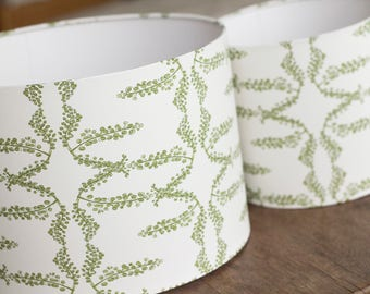 Lampshades | Garden green floral pattern | interior decoration