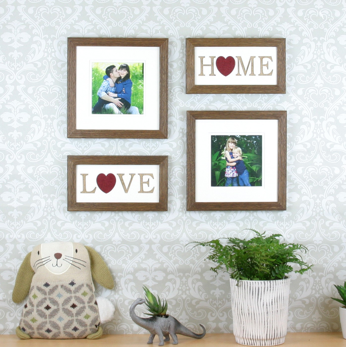 Picture frame set, living room decor, rustic photo frames,Gallery ...