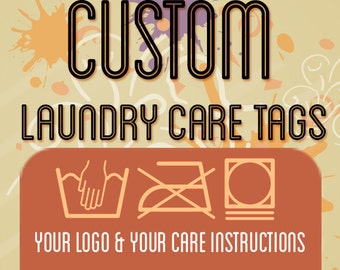 Customized Laundry Care Tags for Craft Businesses