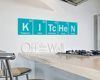 Kitchen Periodic Table elements vinyl wall art decal