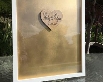 Christmas Decor - Christmas Guest Book Alternative - Personalized Wedding Guest Book Drop Box - Wedding Guest Book