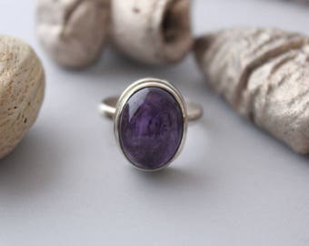 Just Amethyst ring set in Sterling Silver