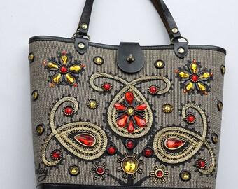 original 1960s ENID COLLINS USA designer bucket handbag
