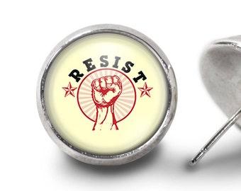 Activist Jewelry/Resistance Stud Earrings/ Resistance Post Earrings/ Resistance Jewelry/ Resistance Earrings/Protest Earrings//Women's March