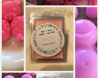 10 Candyfloss scented soy wax melts, wax tart , sweet scent , fun , highly scented, fun scent, uk seller