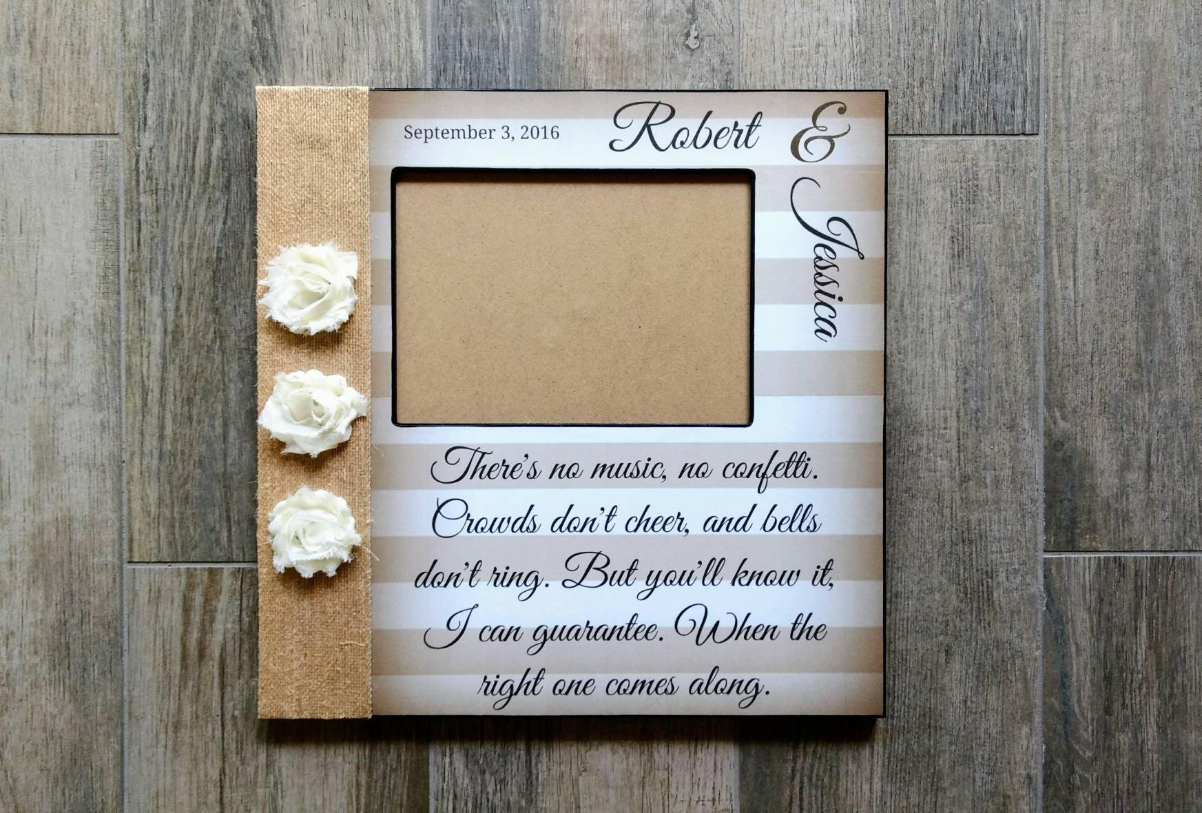 Personalized wedding song lyric picture frame first dance zoom jeuxipadfo Gallery