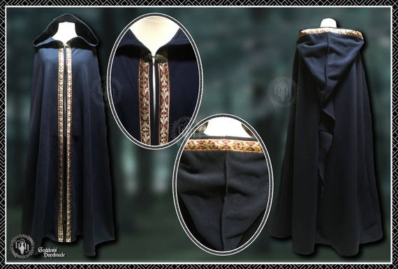 Full Length Cloak/Cape, Pagan, Druid, Ritual Magick, Ceremonial, Medieval, LARP, Renaissance, Elven,