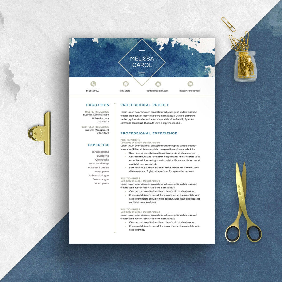 Moderne Lebenslauf Vorlage Word 1-3 Seite fortsetzen CV
