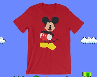 8 Bit Mickey T-Shirt - Red