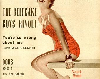 Picturegoer Magazine  1956  British  Stunning 18 Year Old Natalie Wood on Cover  Diana Dors  Ava Gardner  Don Murray Jeanne Crain others