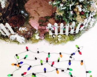 miniature christmas lights fairy garden dollhouse lights string of lights non lighting - Dollhouse Christmas Lights