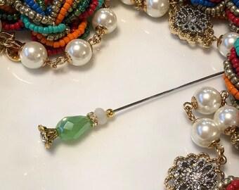 Stick pin hijab pin hat pin brooch