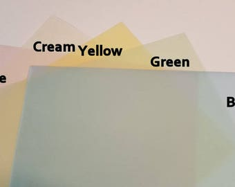 Tinted Translucent Vellum 40 Pages
