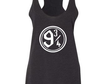 Platform 9 3/4 Tank Top,Women's Harry Potter Tank, RacerBack Tank Top, Harry Potter Fan/Gift, Harry Potter Inspired ThinkApparelCo