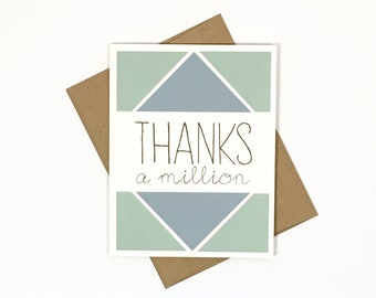 Thanks a Million | Thank You Greeting Card