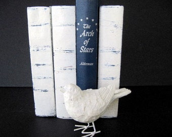 White Book Set,  French Country Books, Wedding Table Decor,  Beach Wedding Books, Decorative Books, Custom Made Books, Refurbished Books