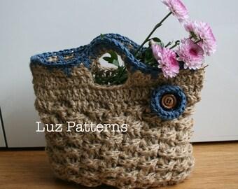Crochet bag pattern, INSTANT DOWNLOAD crochet bag pattern vintage bag pattern - Retro Jute Summer handbag pattern (80)
