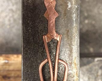 Mini copper diamond shear glass blowing tools