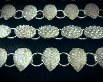 After Life Accessories Handmade Opal Descent Silver Chain Link Bracelet (Different Variation)