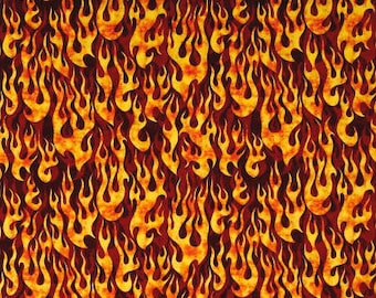 Fire Flames Red from Quilting Treasure's 5 Alarm Collection