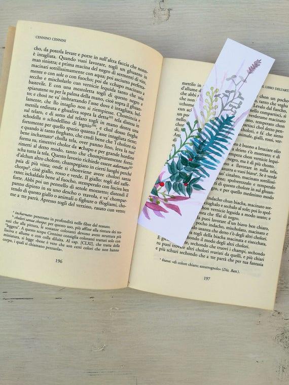 Bookmark Watercolor, handmade, paper bookmarks, custom bookmarks, wedding Favors-#1