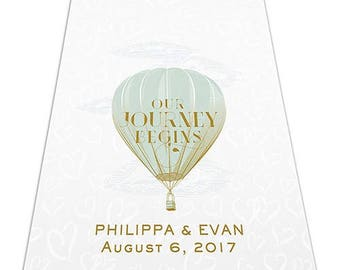 Travel Hot Air Balloon Personalized Aisle Runner Wedding Ceremony Decoration