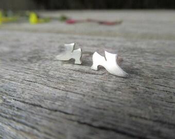Tudor Historic Shoe Sterling Silver Earrings