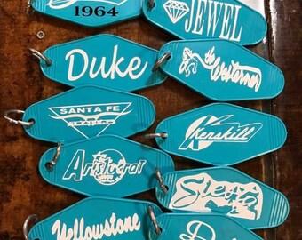 Vintage trailer/auto key tags